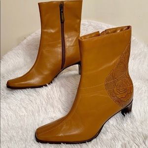 Andrew Stevens Leather Western Boots Booties 6.5 M